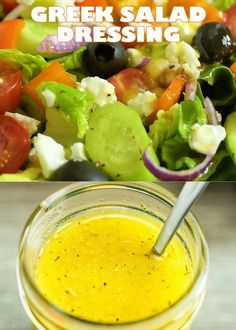 Greek Salad Dressing – a wonderful addition to any salad. Made with simple ingredients, this dressing is tasty and easy to make! FOLLOW Cooktoria for more deliciousness! If you try my recipes - share photos with me, I ALWAYS check! Greek Salad Recipes, Mexican Food Recipes, Vegetarian Recipes, Cooking Recipes, Salad Recipes Video, Amazing Food Videos, Tasty Videos, Comida Diy, Share Photos