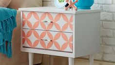 Revive worn furniture fast with a downloadable stenciled pattern and easy-to-use spray paint.