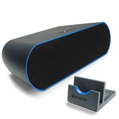 awesome GOgroove BlueSYNC STX Portable Bluetooth Wireless Stereo Speaker System w/ Display Dock Stand for Google Nexus 7 FHD , Samsung Galaxy S4 , Tab 3 , Note , HTC One & More Tablets & Smartphones