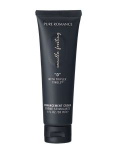 """The strongest of the Pure Romance enhancement creams, """"O"""" features our exclusive TriPlex Tingle™. It's powerful enough for both women and men to enjoy."""
