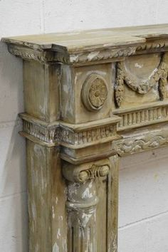 Columbus Architectural Salvage   Salvaged Wood Fireplace MantelVintage French Country Farmhouse Fireplace by RedClayWoodworks  . Old Wood Fireplace Mantels. Home Design Ideas