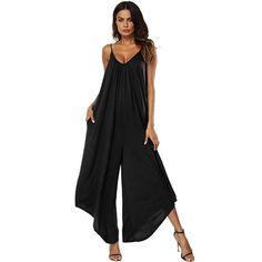 d57899026082 Laamei Fashion Sling Wide Leg Jumpsuit Women s Romper Sexy Sleeveless Jumpsuit  Sexy Street Club Brand Female Summer Bodysuit