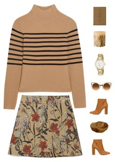 """""""i think about kissing you a lot"""" by my-artsy-soul ❤ liked on Polyvore featuring moda, Topshop Unique, Zara, Gianvito Rossi, Kate Spade, Rosy Rings y Royce Leather"""