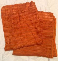 #Vintage retro 1960s 1970s #loose weave #orange pair curtains fabric camper van g,  View more on the LINK: http://www.zeppy.io/product/gb/2/131747884918/
