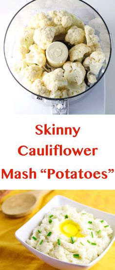 """Skinny Cauliflower Mashed """"Potatoes"""", tastes just like mashed potatoes but without all the Carbs!   Tastefulventure.com"""