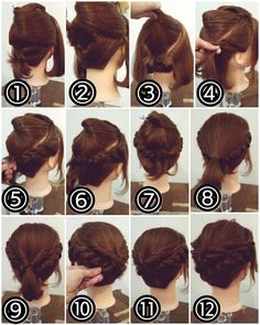 New Hair Updos Retro Beautiful 64 Ideas Romantic Hairstyles, Easy Hairstyles, Wedding Hairstyles, Hairdos For Short Hair, Short Hair Styles, Buns For Short Hair, Pelo Guay, Hair Arrange, Pinterest Hair