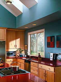 look at that beautiful window in that beautiful kitchen! looking to replace and install? ABC Seamless makes it happen! abcseamless.com