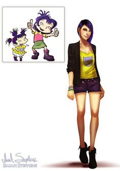 The cast of the Rugrats are all grown up! Kimi Finster