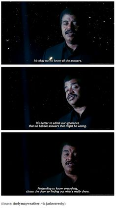 It's OK not to have all the answers | Neil DeGrasse Tyson