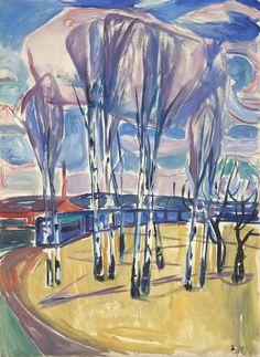 Edvard Munch - The Tram Loop at Skøyen oil on canvas 95 x 70 cm Munch Museum, Oslo