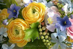 Цветы ручной работы. Polymerclay handmade flowers. Fito-Art. Композиции : Букет для Элины. Цветы из полимерной глины. - Fito Art