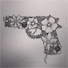 Floral gun.. Love to add to this, shoot Carolines