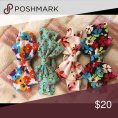 Baby Girl printed spring Headbands New you will get 4 headbands Accessories Hair Accessories