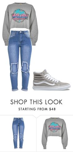 """""""Untitled #368"""" by thenerdyfairy on Polyvore featuring River Island and Vans"""