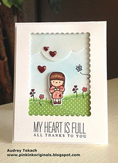In My Heart, Many Thanks, Landscape Trio and Confetti Creative Cuts: Mama Elephant, Audrey