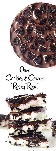 Oreo Cookies and Cream Rock Road made with just four ingredients | Sweetest Menu