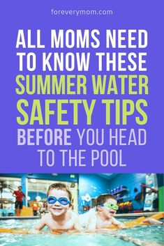 Drowning is a huge risk for our kids every summer. Check out these water safety tips, mamas. Taking them seriously could save your child's life! Teach Kids To Swim, Swimming Drills, Swimming Benefits, Swim School, Water Safety, Safety Tips, Safety Rules, Time Kids, Swim Lessons