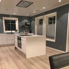 New Kitchen Inspiration, Grey Kitchens, Kitchen Cabinets, Green, Table, Mood Boards, Furniture, Home Decor, Kitchens
