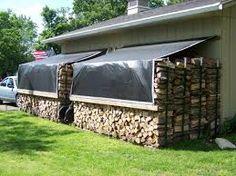 Firewood storage - Google zoeken- (tarp idea hooked to fence)