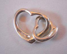 Solid #925SterlingSilver #925Silver #925Sterling #Silver #Sterling #SterlingSilver #DoubleHeart #LinkedHeart #Hearts #Heart #Pendant 4.1g