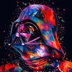 Lowpoly illustrations: Star Wars portraits take on color - Trend Illustration Design 2019 Star Wars Fan Art, Film Star Wars, Star Wars Poster, Star Wars Darth, Darth Maul, Star Trek, Dark Wallpaper Iphone, Star Wars Wallpaper, Wallpaper Darth Vader