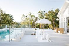 🌟Tante S!fr@ loves this📌🌟Three Birds Renovation Builds my Dream Home – Stace King Outdoor Spaces, Outdoor Living, Three Birds Renovations, Built In Grill, Dream Pools, Pool Landscaping, Backyard Pools, Pool Decks, Pool Houses