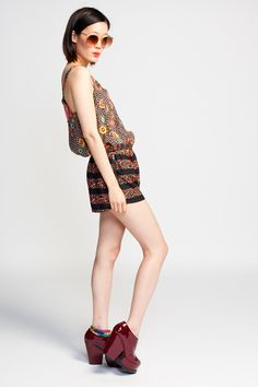 Lucca Couture Leopard Stripe Romper $69 #floral #leopard #print #semisheer #sheer #romper #dress #luccacouture #sleeveless #bohemian