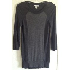 H&M Colorblock Angora Blend Sweater Excellent condition. Minor pilling in the underarms. Super cute H&M sweater. Charcoal gray with a lighter gray colorblock front. Longer length like a tunic great over leggings. Ribbed neck and hem. Scoop neck. 3/4 length sleeves. Viscose and angora blend. Size small. +All offers welcome H&M Sweaters Crew & Scoop Necks