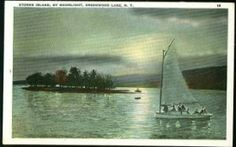 Storms Island on the south end of the lake in the 1920s