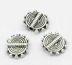 6//8MM tibétain argent//or//bronze anneaux Spacer Beads Jewelry Findings 100Pcs