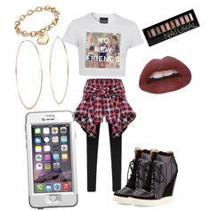Me, Myself, and I Plaid by nikki4fashionista on Polyvore featuring polyvore fashion style L.A.M.B. Blue Nile Michael Kors Forever 21