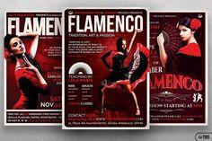 Flamenco Flyer Bundle V1 By Thats Design Store