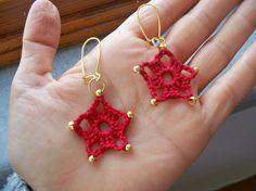 Crochet Earrings Inspiración ✿⊱╮Teresa Restegui http://www.pinterest.com/teretegui/✿⊱╮
