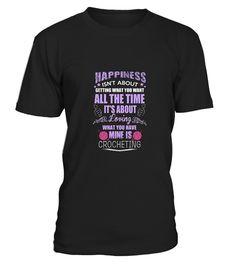 # Women's My Happiness is Crocheting Love1 .   CHANCE VOR WEIHNACHTEN!So einfach geht's:   Wähle ein Shirt oder Top und deine Wunschfarbe Klicke auf den grünen Button JETZT BESTELLEN  Wähle deine Größe und die gewünschte Anzahl an Artikeln Zahlungsmethode wählen und Lieferadresse eingeben -FERTIG!   - hohe Qualität- weltweite Lieferung - sichere Kaufabwicklung via paypal, credit card, sofort    Daddy Father Mother Mommy Daughter Son Family Birthday Hannukka Christmas Zodiac…