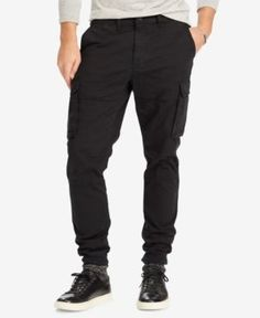 Polo Ralph Lauren Men's Slim-Fit Stretch Cargo Pants - Black 36x30