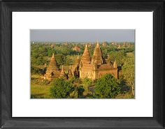 Landscape of ancient temples and pagodas, Bagan (Pagan), Myanmar (Burma) as Photographic Prints, Framed and Canvas Prints from Robert Harding's World In Print