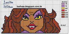 Clawdeen Wolf  Monster High perler bead pattern>> For my little sis again. Really, I should just make a board for this! LOL
