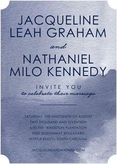 Enchanting Allure - Signature White Wedding Invitations - Magnolia Press - Coral - Pink : Front