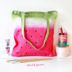 ~ DiY Wátermelon Tote Bag ~
