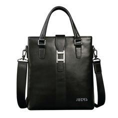 aa69f6333cc0 JD-JETRS 2015 Men s portable vertical section diagonal leather shoulder bag  business briefcase