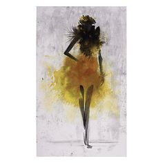 Fashion-inspired Runway Canary by Emma Brooks $299.95 #ZGallerie