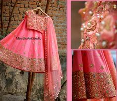 End Customization with Hand Embroidery & beautiful Zardosi Art by Expert & Experienced Artist That reflect in Blouse , Lehenga & Sarees Designer creativity that will sunshine You & your Party. Indian Wedding Outfits, Indian Outfits, Lehnga Dress, Saree Blouse, Desi Clothes, Indian Clothes, Lehenga Designs, Indian Attire, Indian Wear
