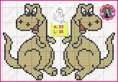 Cross Stitch For Kids, Cross Stitch Animals, Crochet Skull Patterns, Cross Stitch Patterns, Baby Blanket Crochet, C2c Crochet, Crocheted Blankets, Knitting Charts, Knitting Patterns