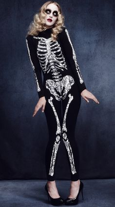 Purchase skeleton costumes like this Solei Skeleton Cat Suit at Yandy! #Yandy