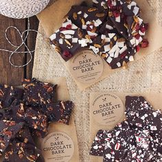 Homemade Chocolate Bark // Tasty Yummies. Find this #recipe and more on our DIY Edible Holiday Gifts feed at https://feedfeed.info/edible-holiday-gifts?img=166216 #feedfeed