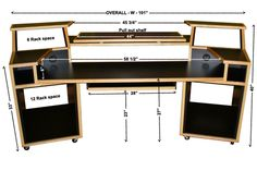 Audio workstation diy recording studio desk