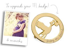 Our Stork Brooch makes a highly unusual Baby Shower gift. It can also be a present for your mum announcing that you are expecting a baby. #babyonboard #announcement #stork