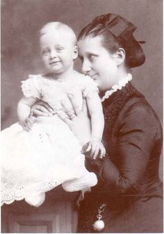 Duchess Maria Pia of Parma and her son the prince Elias.