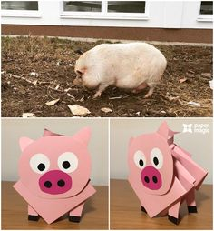 A pig! We saw him the other day so I decided to make him for my kids :)