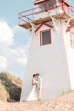 Vintage chic beach wedding in Charlottetown, PEI